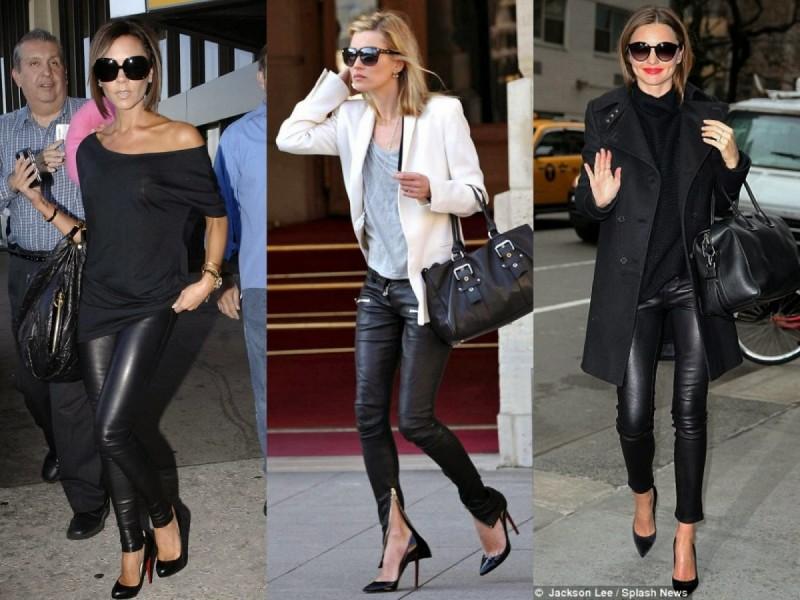 af76b7675297 Πώς φοράνε οι σταρ και οι fashionistas το δερμάτινο παντελόνι  17 looks