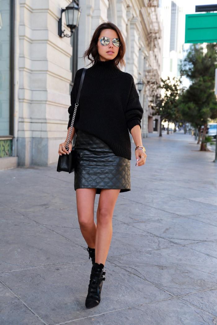 15 τρόποι για να φορέσετε τη δερμάτινη φούστα σας και οι νέες τάσεις ... a2821781d66