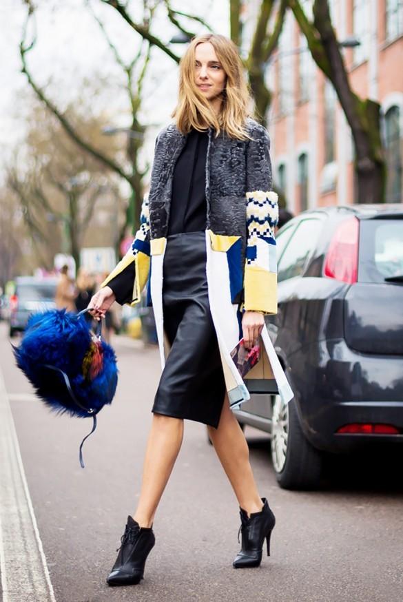 15 τρόποι για να φορέσετε τη δερμάτινη φούστα σας και οι νέες τάσεις ... 1139945e282