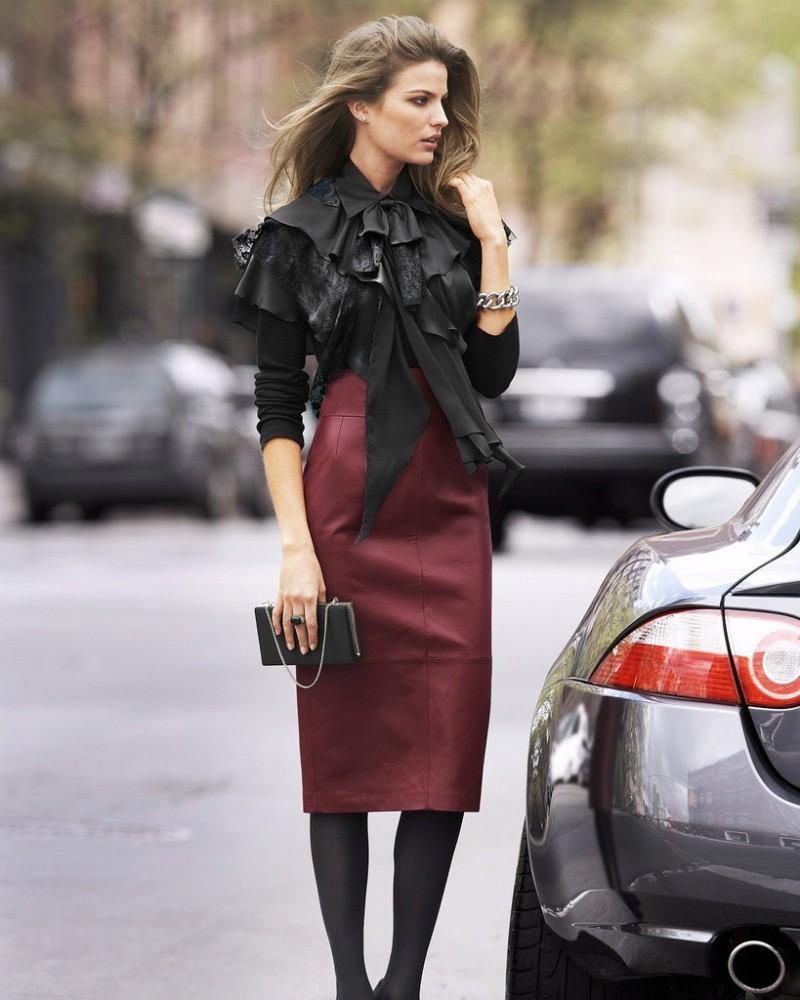 d4cefdcd2df 15 τρόποι για να φορέσετε τη δερμάτινη φούστα σας και οι νέες τάσεις ...
