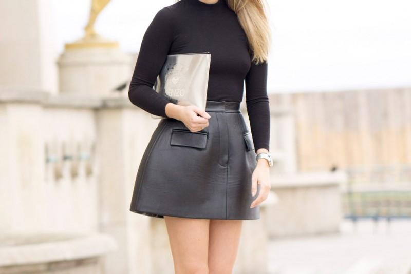 Δερμάτινη φούστα  Οι νέες δερμάτινες φούστες και πώς θα τις φορέσεις ... 3ca31fba7c9