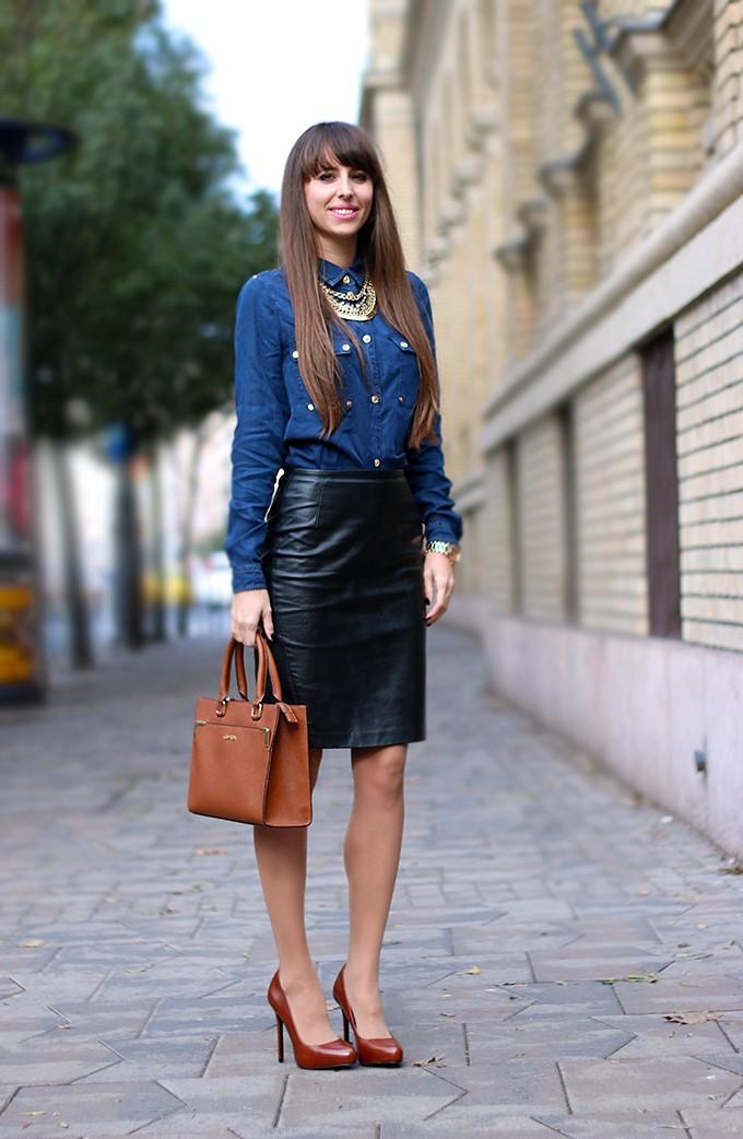 15 τρόποι για να φορέσετε τη δερμάτινη φούστα σας και οι νέες τάσεις ... b296d483646