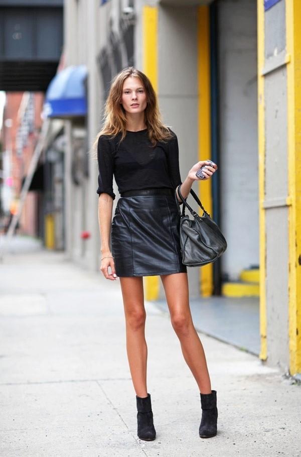 15 τρόποι για να φορέσετε τη δερμάτινη φούστα σας και οι νέες τάσεις ... 2fdf117137f