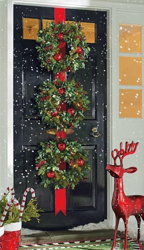 Εξωτερική χριστουγεννιάτικη διακόσμηση σπιτιού: 15 τέλειες ιδέες