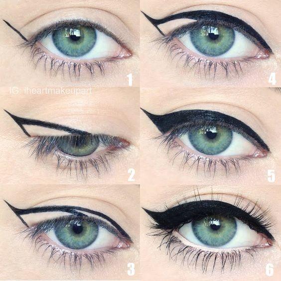 Πώς να βάλεις τέλεια το eye liner, με 5 κινήσεις για γραμμή cat winged