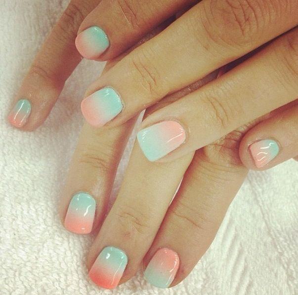 Ιδέες και χρώματα για οmbre μανικιούρ στα νύχια