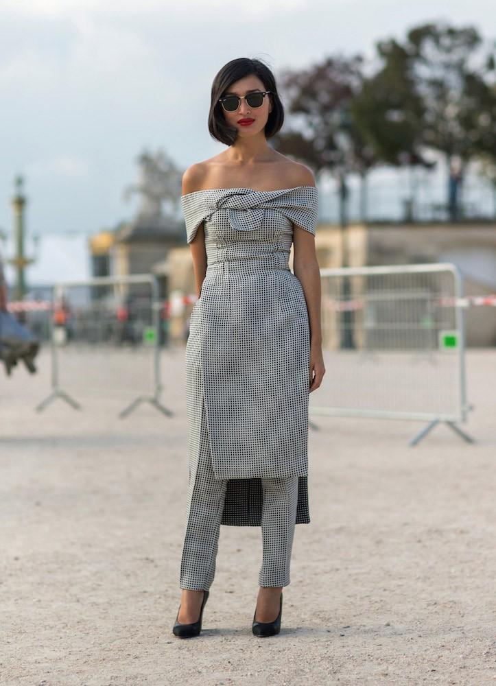 9b0cbb1eceec Η νέα τάση της μόδας από τις σταρ  Παντελόνι με φόρεμα