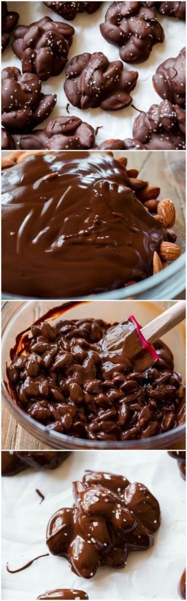 Εύκολη συνταγή για σοκολατάκια με αμύγδαλα με 3 υλικά