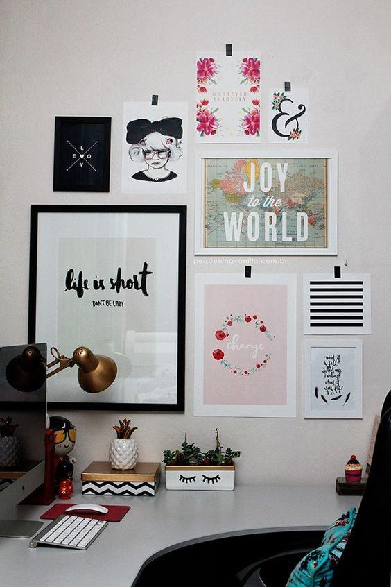 Στιλάτες ιδέες για να διακοσμήσετε τον τοίχο του γραφείου σας