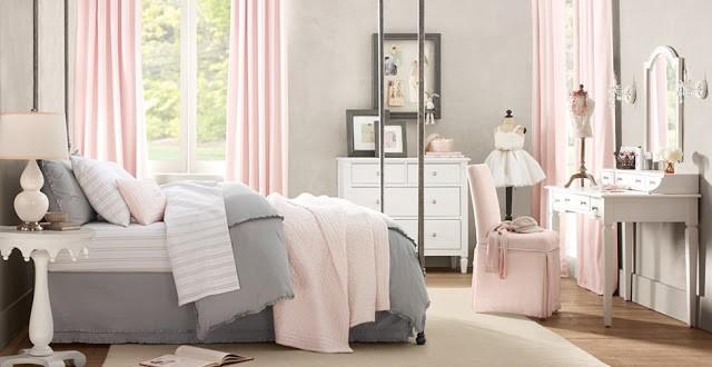 Κρεβατοκάμαρα: Ντύστε την στον πιο τέλειο συνδυασμό με γκρι και ροζ