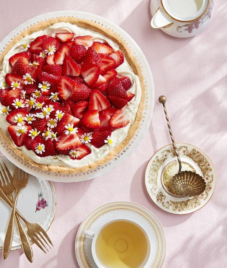 Τάρτα με μασκαρπόνε και φράουλες