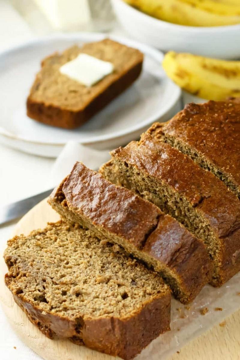 Υγιεινό κέικ μπανάνας χωρίς λακτόζη