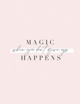 Τη μαγεία εμείς τη δημιουργούμε! Με τις σκεψεις μας μπορούμε να κάνουμε θαύματα.🌟Μην τα παρατάς! #womannowgr #dontgiveup #motivationalquotes #μην_τα_παρατας #magic #believe #believeinyourself #skepsou #skepseis