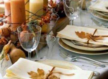 Φθινοπωρινό art de la table ή στρώστε το τραπέζι σας φθινοπωρινά