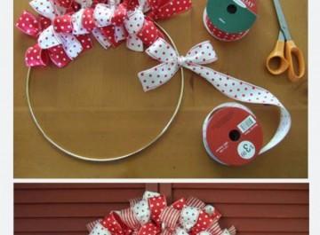Φτιάξτε μόνη σας χριστουγεννιάτικα στεφάνια