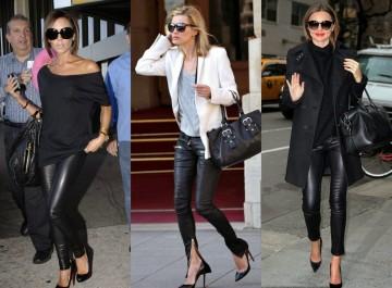 Πώς φοράνε οι σταρ και οι fashionistas το δερμάτινο παντελόνι; 17 looks