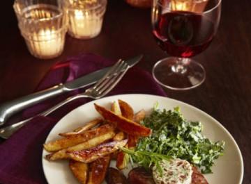Μενού 4 πιάτων: Δείπνο για δυο στο σπίτι