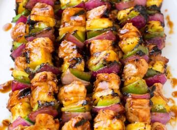 Χαβανέζικα σουβλάκια κοτόπουλου (συνταγή)