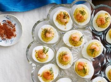 Ορεκτικό με αυγά και γαρίδες