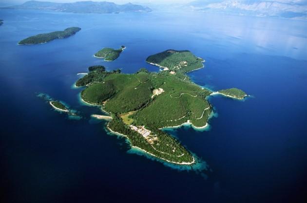 Island of the Onassis Family, Greece ca. 1970-1997 Skorpios, Epirus, Greece