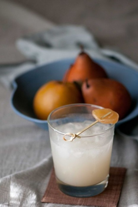 white ginger coctail