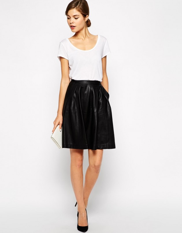 big skirt leather
