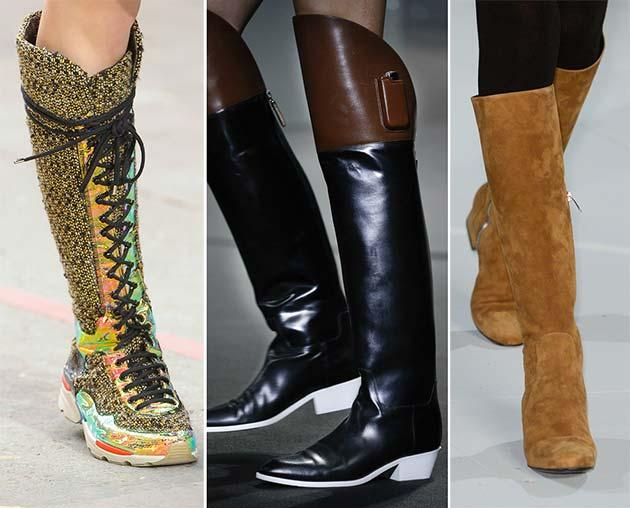 low heels, high boots